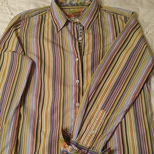 ROBERT GRAHAM sz 4 button down shirt